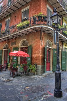 Pirates Alley Cafe, New Orleans...original site of the 1769 Spanish Colonial Prison where brothers Jean and Pierre Lafitte were both imprisoned.