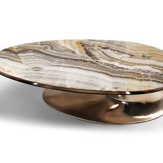 ONYX ELLIPTICAL COCKTAIL TABLE - ONYX ELLIPTICAL TABLE WITH ALTERNATIVE MARBLE TOP
