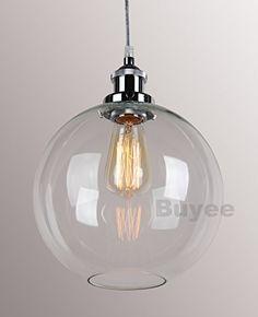 Buyee® Modern Industrial Metal Glass Loft Pendant Lamp Retro Ceiling Light Vintage Lamp