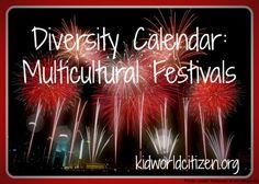 Diversity Multicultural Calendar Festivals- Kid World Citizen 2013