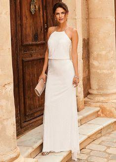 Lily Embellished Maxi Bridal Dress by Kaleidoscope Elegant Wedding Dress, Dream Wedding Dresses, Bridal Dresses, Wedding Gowns, Camila, Bridal Boutique, Occasion Dresses, Beautiful Bride, Wedding Styles