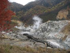 Noboribetsu- Hell Valley by pud pud, via Flickr Desert Places, Volcano, Mount Rainier, Places Ive Been, Japan, Explore, Mountains, Nature, Travel