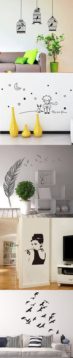 Better than anything, wall stickers are a perfect way to decorate your room and express yourself at very affordable. They are a fun, easy and removable decor solution. Click on the picture to explore for more cool wall stickers!