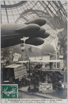 Astra airship Ville-de-Bordeaux at Paris 1908