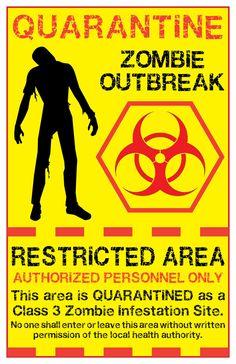 zombie biohazard symbol   zombie quarantine sign 2 by memnalar designs interfaces signage 2011 ...