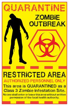 zombie biohazard symbol | zombie quarantine sign 2 by memnalar designs interfaces signage 2011 ...