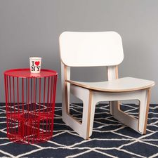Drum Side Table Red
