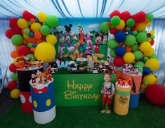 Banner , Mickey Mouse balloons , two sign wood letters for Sale in City of Industry, CA - OfferUp Mickey Mouse Birthday Decorations, Fiesta Mickey Mouse, Mickey Mouse Clubhouse Birthday Party, Mickey Mouse Parties, Mickey Party, Disney Parties, Pirate Party, Mickey 1st Birthdays, 2nd Birthday Boys