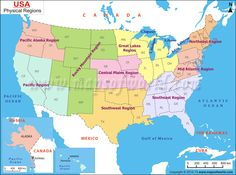 Us Regions Map United States Regional Map Provides Details About The Region Divisions Of The Usa There Are Various Division Of States Includes Northeast
