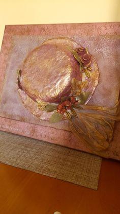 Καπέλο σε καμβά με μικτές τεχνικές by sofia Butcher Block Cutting Board