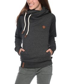 f3539a3d334d Add some Euro style to your wardrobe with the Darth VIII anthracite melange  hoodie. Naketano