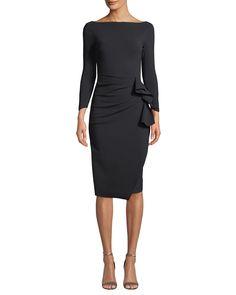 Chiara Boni La Petite Robe Zelma Ruched Body-Con Dress True Style Never Dies Business Fashion Professional, Professional Dresses, Black Dress Accessories, Latest Fashion Dresses, Women's Fashion, Timeless Fashion, Dress Fashion, Fashion Outfits, Black Dress Outfits