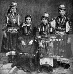 Aromanian/Vlach women, Albania, From Peoples of All Nations, Their Life Today and the Story of Their Past, volume Cultural Diversity, Folk Costume, People Of The World, Eastern Europe, World War Two, Two By Two, Nostalgia, Culture, Greek Costumes