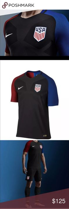 Men's Nike US Soccer Authentic Vapor jersey new Brand New Men's Nike US Soccer Authentic Vapor Match Jersey!   Size: Large Brand New, With Tags!   - This is not a replica jersey, this is the ACTUAL jersey that team USA wears!   - Retails for $165!   - 100% DriFit PolyesterLimited Edition Nike 2016 Rio Olympics Team USA Soccer Away Authentic Vapor Jersey! These jerseys are the exact same away jerseys that Team USA will play in during the 2016 Rio de Janeiro Olympics! This is the Top version…