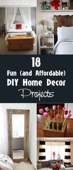 18 Fun (and Affordable) DIY Home Decor Projects →