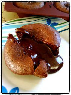 recette de coulant au chocolat, fondant au chocolat, recette tupperware