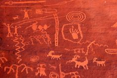 Native American Pictographs at Red Rock canyon