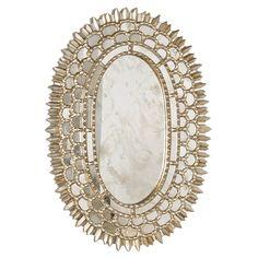 Hello gorgeous! ~ Worlds Away Carmelita Silver leafed Oval Mirror WACARMELITAS