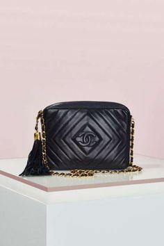 Vintage Chanel Quilted Fringe Leather Bag - Vintage Chanel Bags