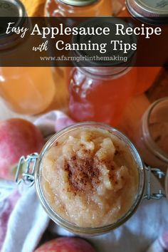 This easy applesauce recipe can be used with fresh apples or apple pulp which is left over from making juice. Canning applesauce is easy and delicious! Honey Recipes, Fruit Recipes, Smoothie Recipes, Low Carb Recipes, Blender Recipes, Jelly Recipes, Apple Recipes, Applesauce Recipes Canning, Homemade Applesauce