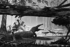 """Rutiodon and Triassic Flora, Petrified Forest"" by Doug Henderson"