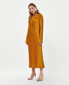 TEXTURED PLEATED DRESS-View all-DRESSES-WOMAN | ZARA United States