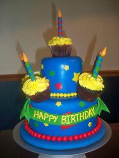 Cupcake Cake  www.contemporarycakery.com