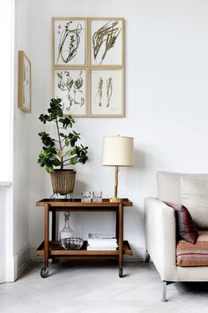 Side-table in the sitting room of the fabulous Danish home of interior designer Natalia of Spatial Code / Line Thit Klein.