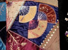 CQMagOnline.com - The world's first online magazine for Crazy Quilting - Article  from an antique quilt