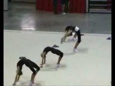 rhytmic gymnastics stretching training (2) - YouTube