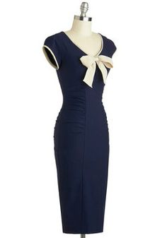 Sheath a Lady Dress in Navy, #ModCloth