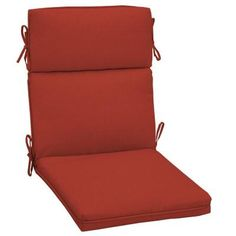 Patio Cushion Ideas - Hampton Bay Ruby Solid Welted Outdoor Dining Chair Cushion - The Home Depot