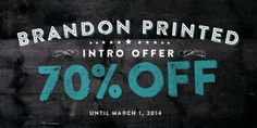Brandon Printed font download