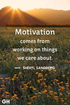 Motivation comes from working on things we care about. - Betsy Farrell