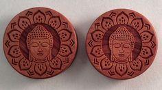 Indian wood Buddha flower mandala plugs