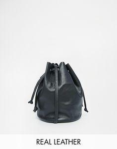 ASOS Unlined Leather Mini Duffle Cross Body Bag at asos.com fde7a5643a13b