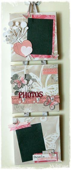My little scrap Photo Album Scrapbooking, Scrapbook Albums, Scrapbook Paper, 3d Paper Crafts, Paper Gifts, Diy Crafts, Origami, Mini Albums Scrap, Hanging Pictures