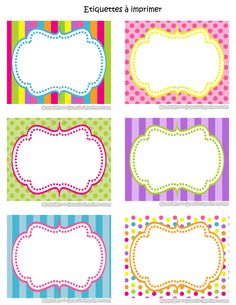 Free Printable Food Labels Templates Best Of Candy Shoppe Birthday Party Printable Food Labels Pink Green Food Label Template, Label Templates, Printable Labels, Food Labels, Party Printables, Free Printables, Candy Labels, Colorful Candy, Binder Covers