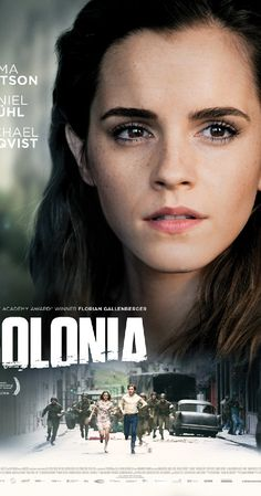 Directed by Florian Gallenberger. With Emma Watson, Daniel Brühl, Michael Nyqvist, Richenda Carey. A young woman& desperate search for her abducted boyfriend that draws her into the infamous Colonia Dignidad, a sect nobody has ever escaped from. 2015 Movies, Hd Movies, Movies Online, Movies And Tv Shows, Drama Movies, Beau Film, Good Movies To Watch, Great Movies, Colonia Film