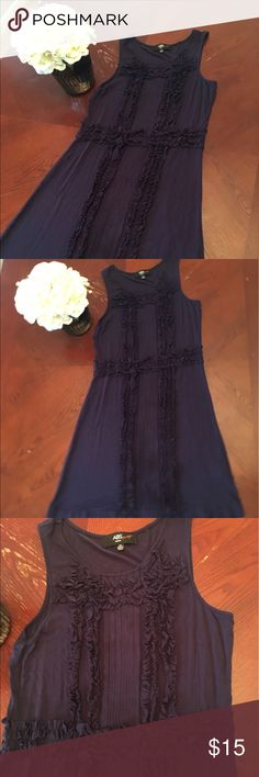 ABS Navy blue summer dress size 14 Super cute and comfy summer dress perfect to dress up or keep it casual in perfect condition ABS Dresses Casual