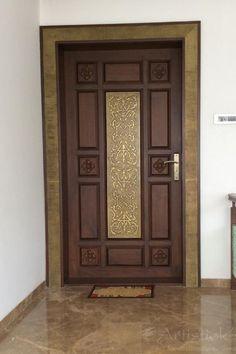 House Main Door Design, Main Entrance Door Design, Wooden Front Door Design, Room Door Design, Wooden Front Doors, Modern Entry Door, Modern Wooden Doors, Balcony Grill Design, Window Grill Design
