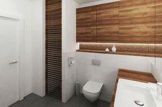Aranżacja łazienki wystrój nowoczesny w kolorach biel - projekt wnętrza #5640445, Homplex