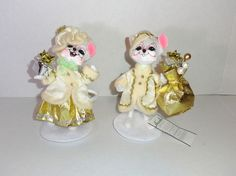 """STUNNING New Annalee 6"""" Santa & Mrs Claus Mouse Christmas Doll Figure Set, dated 2013 #Annalee  #christmas #gifts"""