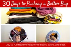 30 Days to Packing a Better Bag – Day 11: Cubes, Sacks, Bags – Why You Should Compartmentalize