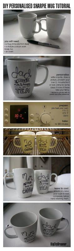 DIY – Personalized Sharpie Mug Tutorial  