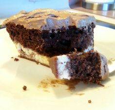 """♥ Chocolate Italian Love Cake ♥ - """"This is like a """" Chocolate Cheesecake """" Creamy cheese layer on the bottom. Moist Chocolate Cake , then the soft Frosting."""" @allthecooks #recipe"""
