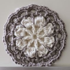 Hilde haakt: Ster haken (4) Crochet Potholders, Crochet Blocks, Crochet Squares, Crochet Granny, Granny Squares, Crochet Mandala, Crochet Motif, Crochet Flowers, Crochet Patterns
