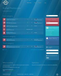 Metropolis phpBB3 Style, Premium phpBB3 theme from RocketTheme