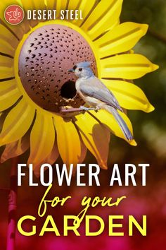 Bird feeders, garden torches, solar lights and more that add color and life to your outdoor space! Art sparked by nature! Garden Yard Ideas, Lawn And Garden, Garden Projects, Outdoor Art, Outdoor Gardens, Bird Feeder Craft, Backyard Birds, My Secret Garden, Birdhouses