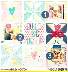 """The Cut Shoppe: Building Bella by Ashley Horton uses """"Retro Rounded Corners"""" cut file."""